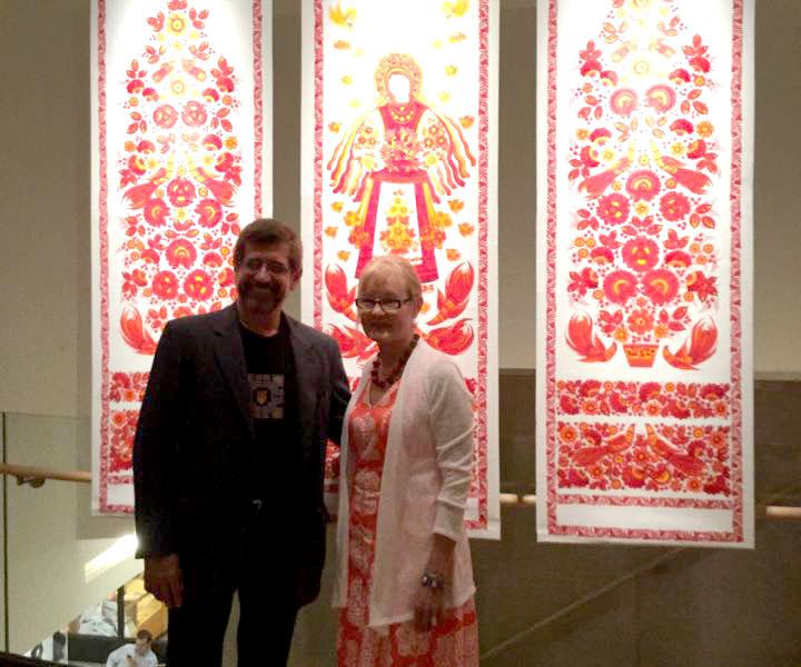 Юрій Міщенко та Наталя Павленко на відкритті виставки в Нью-йорку